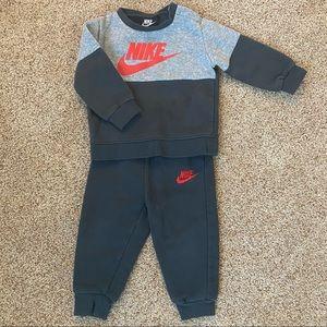 Nike gray sweatsuit - size 18 mos